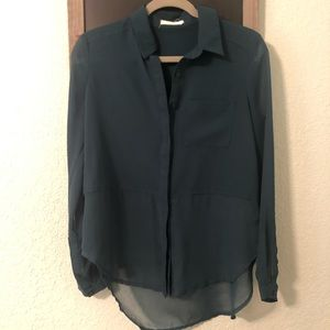 Forrest Green Button Up Blouse